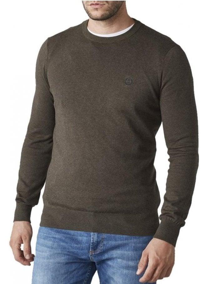 HENRI LLOYD Miller Regular Crew Neck Knitwear Fine Khaki