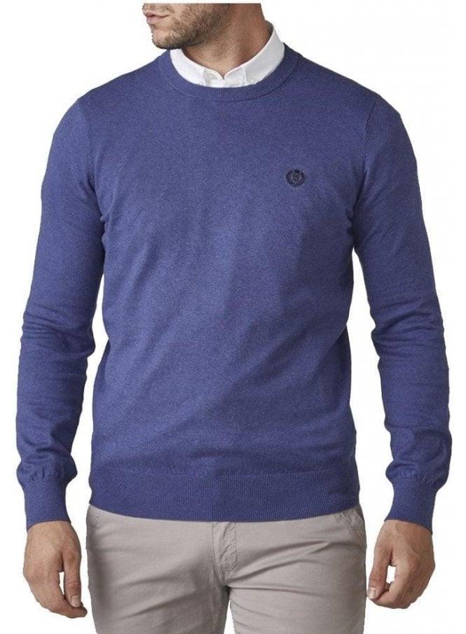 HENRI LLOYD Miller Regular Crew Neck Knitwear Fine Royal Blue
