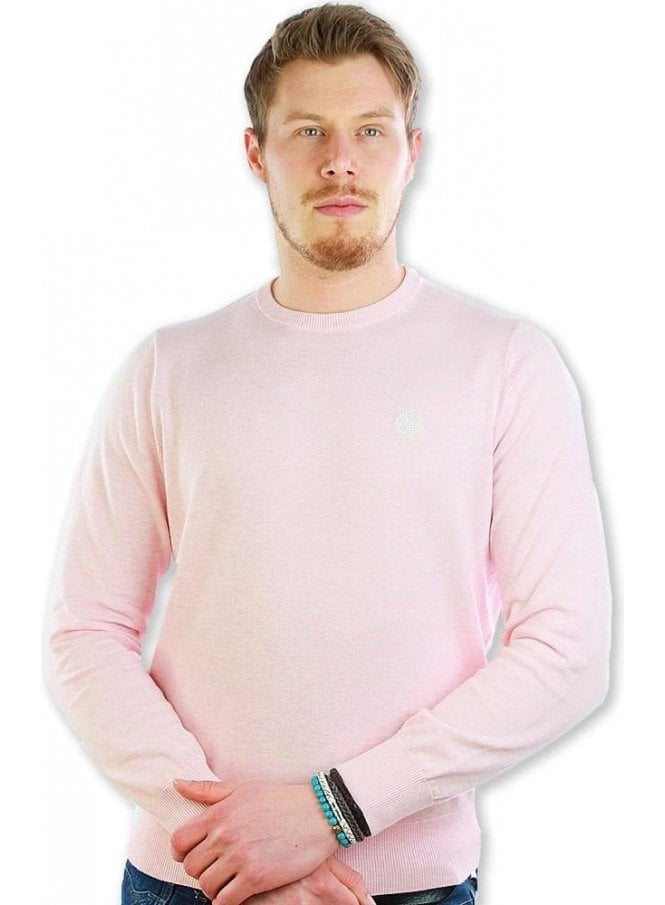 HENRI LLOYD Moray Club Crew Knit Jumper Sweater Pink