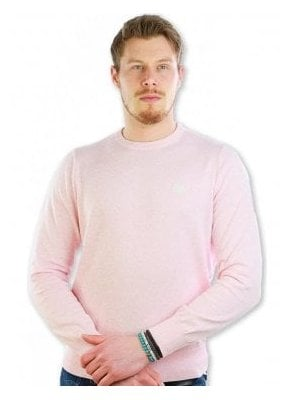 Moray Club Crew Knit Jumper Sweater Pink