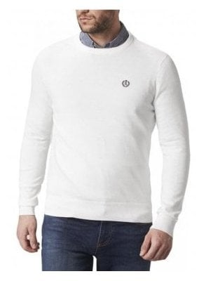 Moray Regular Crew Neck Thin Knit Jump Off White