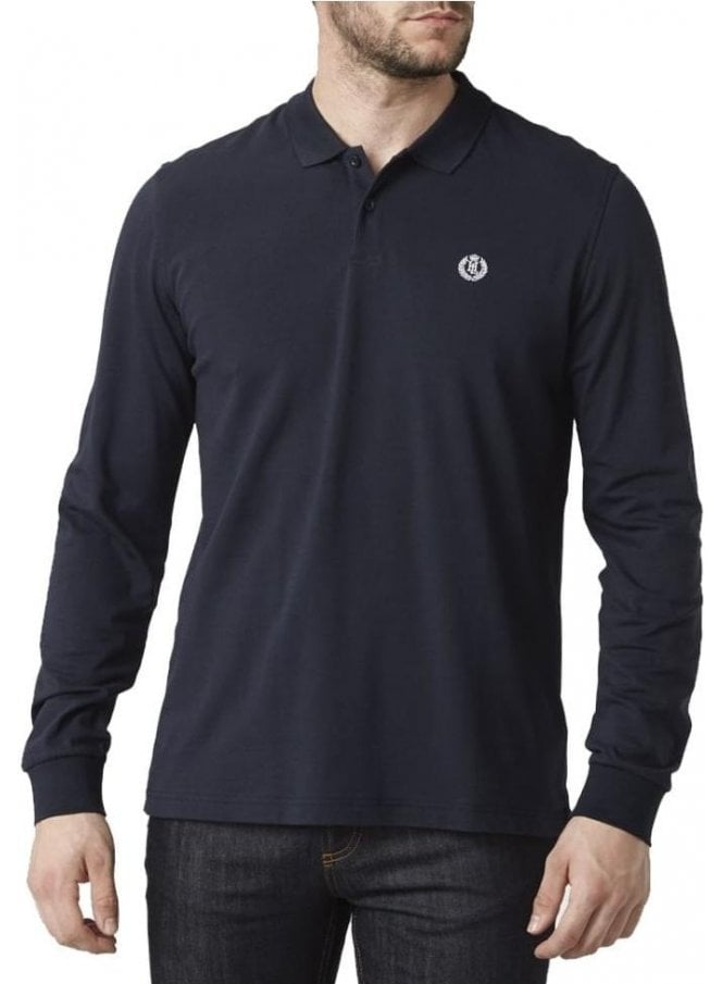 HENRI LLOYD Musburry Regular Long Sleeved Polo Navy