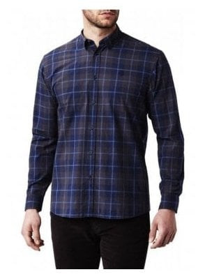 Pailton Classic Long Sleeved Check Shirt Navy