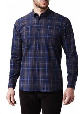 Pailton Classic Long Sleeved Check Shirt Navy