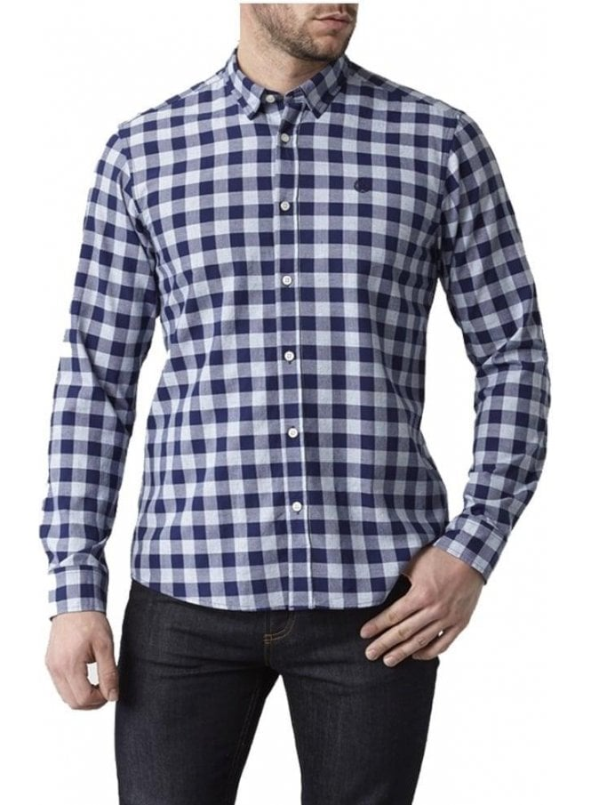 HENRI LLOYD Ramore Regular Long Sleeved Check Shirt Navy Check