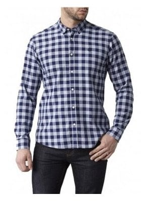 Ramore Regular Long Sleeved Check Shirt Navy Check