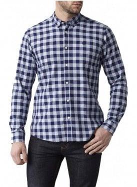 Ramore Regular Long Sleeved Check Shirt Navy Check