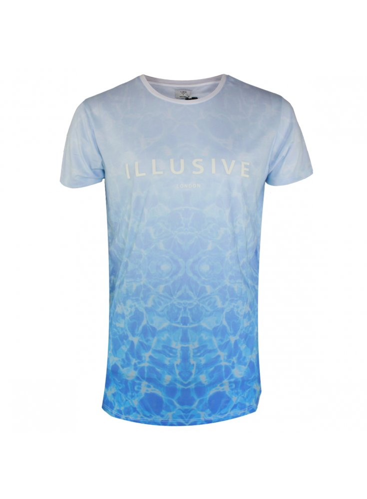 Swimming Pool Clothing : Illusive london swimming pool tee pale blue spring