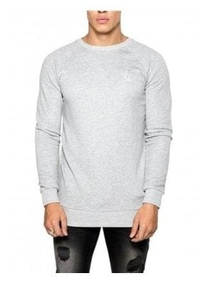 Basic Crew Neck Sweater Grey Marl