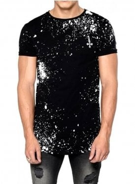 Paint Chaos Splatted Crew Neck Tshirt Black