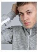 KING APPAREL Aesthetic Raglan Sleeve Hoodie Grey