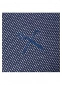 KING APPAREL Dark Sea Polka Dot Design Midline Cre Navy