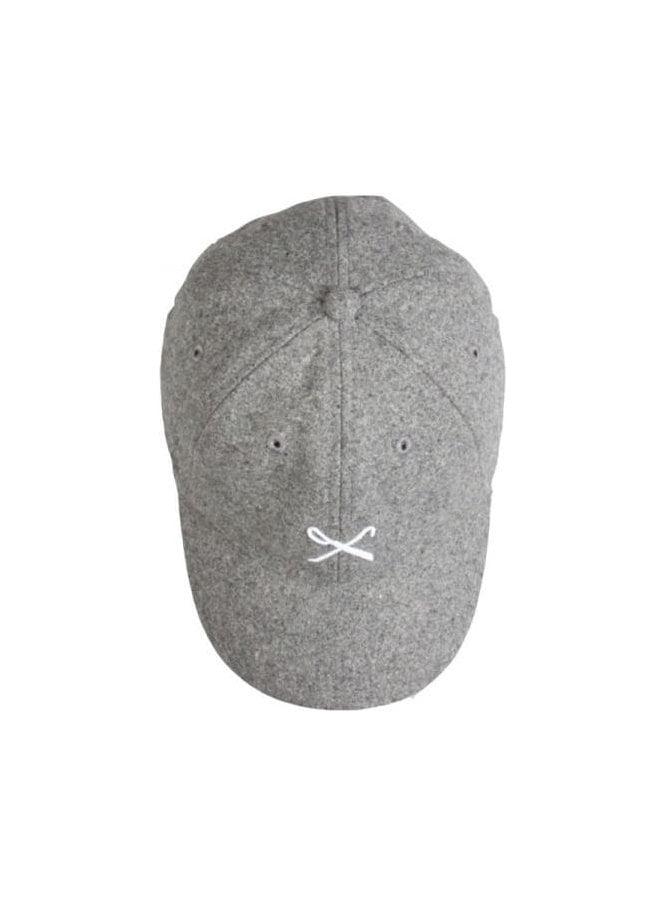 KING APPAREL Hardgraft Curved Peak Wool Mix Baseba Grey