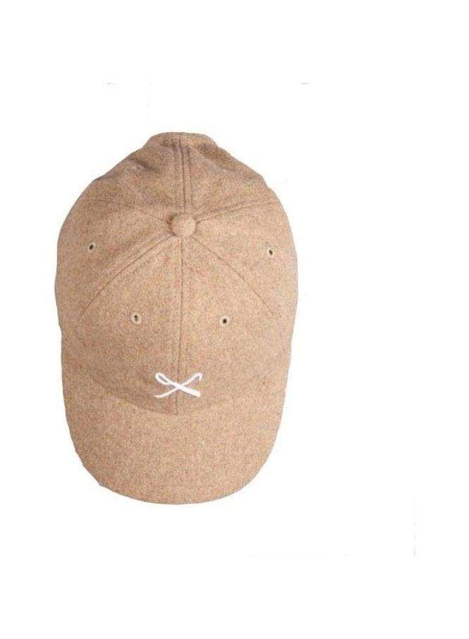 KING APPAREL Hardgraft Curved Peak Wool Mix Baseba Tan