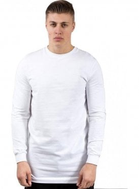 Hardgraft Light Crew Longline Sweater White
