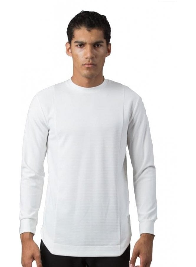 KING APPAREL Ivory Pinstripe Longsleeved Tshirt White