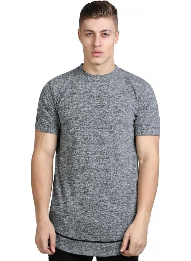 KING APPAREL Staple Layered Longline Tshirt Grey