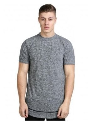Staple Layered Longline Tshirt Grey