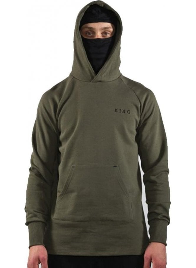 KING APPAREL Stealth Hoodie Top Olive