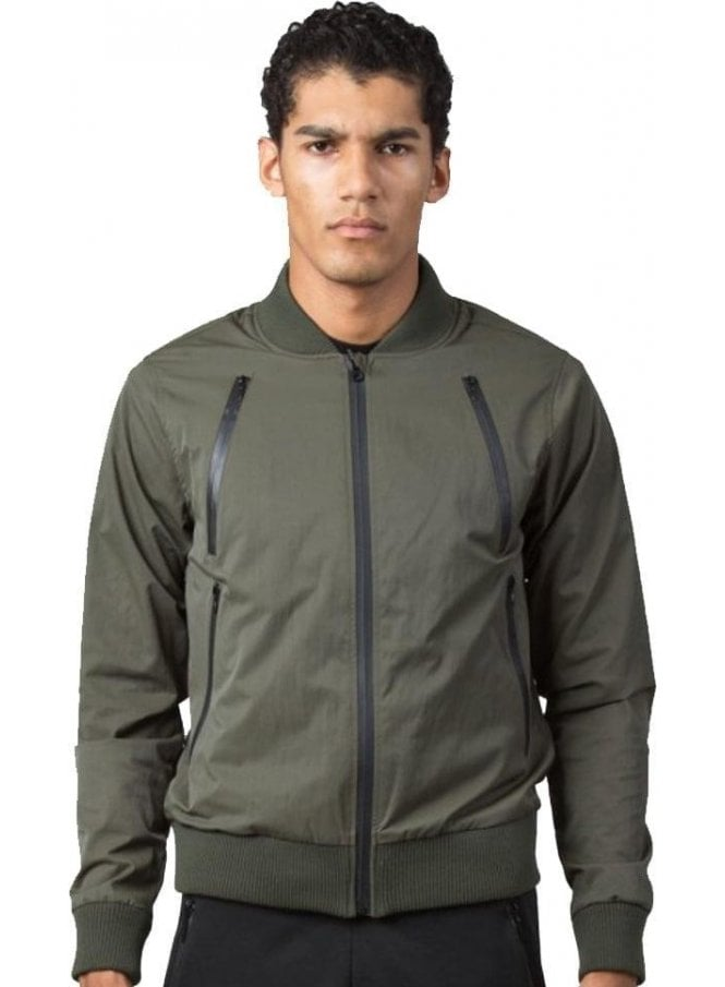 KING APPAREL Tech Bomber Jacket Olive