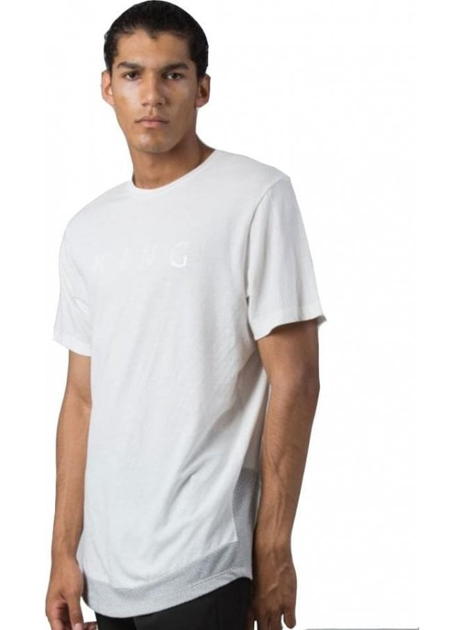 KING APPAREL Vent Midline Tshirt White