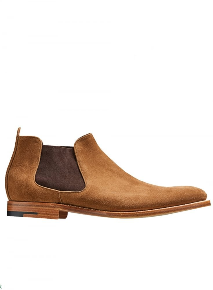 f4445766f0316 Barker Lester Suede Chelsea Boot Snuff Suede