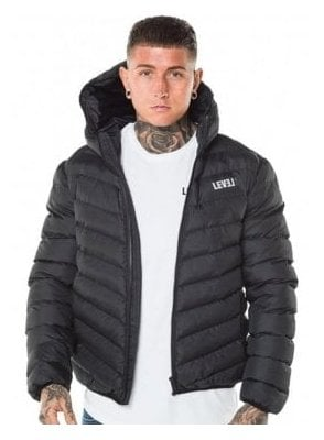 Puffa Hooded Jacket Black