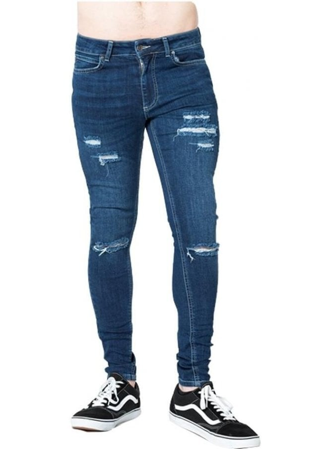 LEVEL 1 Ripped Skinny Denim Jean Indigo