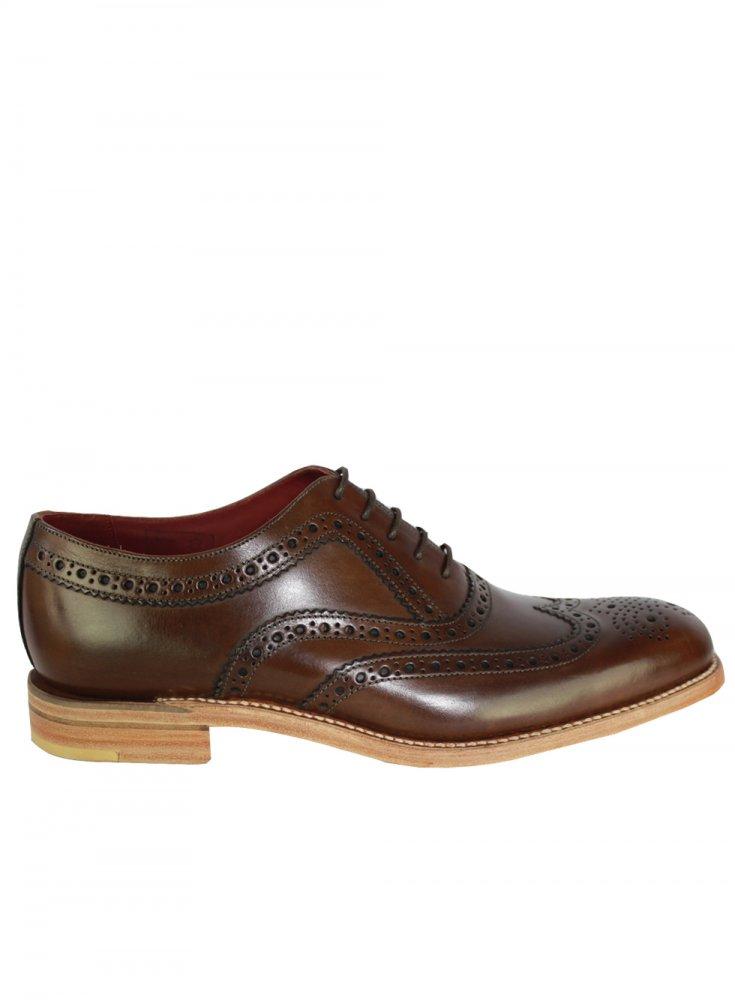 Loake Full Leather Fearnley Dark Brown Brogue JR_6403