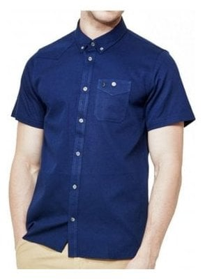 Adam Keyte S/s Baseball Collared Shirt Lux Navy