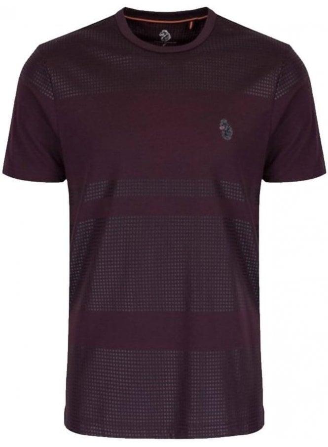 LUKE Bob Foxs Spot Print Tshirt Lux Shiraz