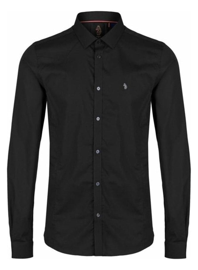 LUKE Butchers Pencil Super Slim Tapered Detail Lon Black