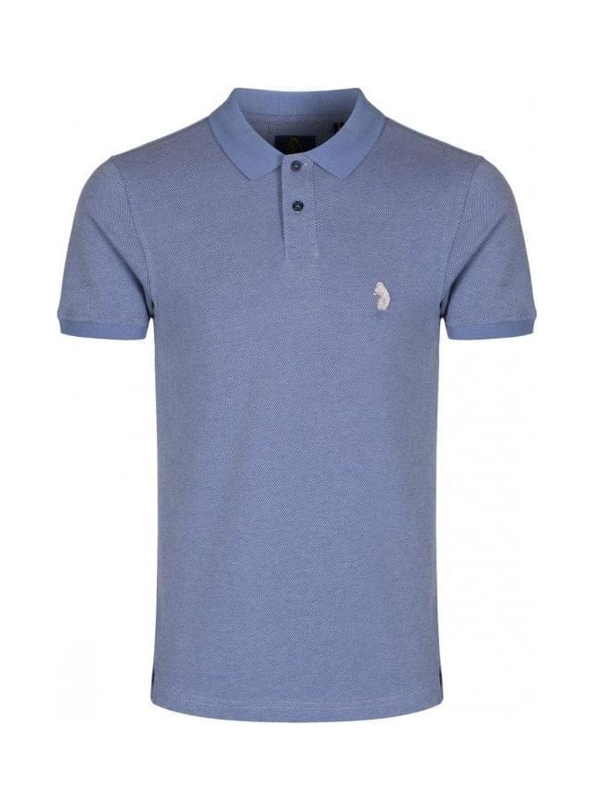 LUKE Ginelli Denim Polo T Shirt Sky
