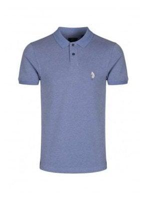 Ginelli Denim Polo T Shirt Sky