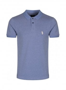 Ginelli Denim Polo T Shirt Sky