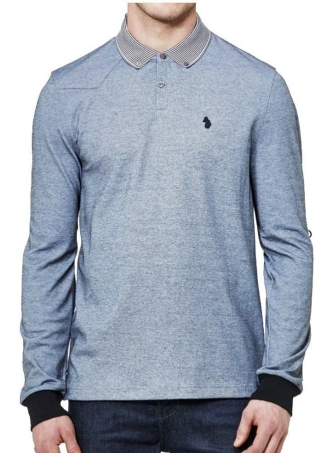 LUKE Long Special Bill 2 Otm Long Sleeved Polo Top Silver