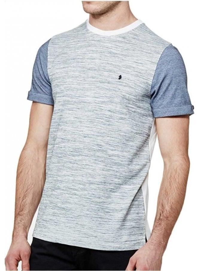 LUKE Mega Charmer Otm Cuff Detail Crew Neck Tshirt Mid Grey Marl