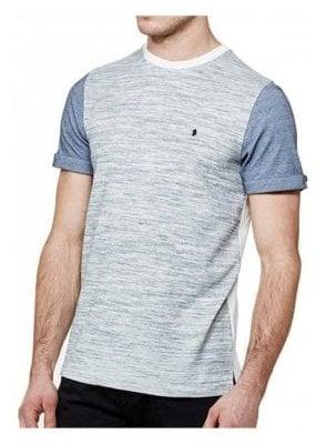 Mega Charmer Otm Cuff Detail Crew Neck Tshirt Mid Grey Marl