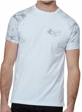 Rainman Camo Brushstroke Printed Crew Neck Ts White