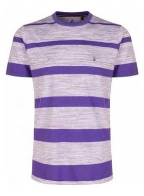 Space Cadet Striped Crew Neck Tshirt Pop Purple