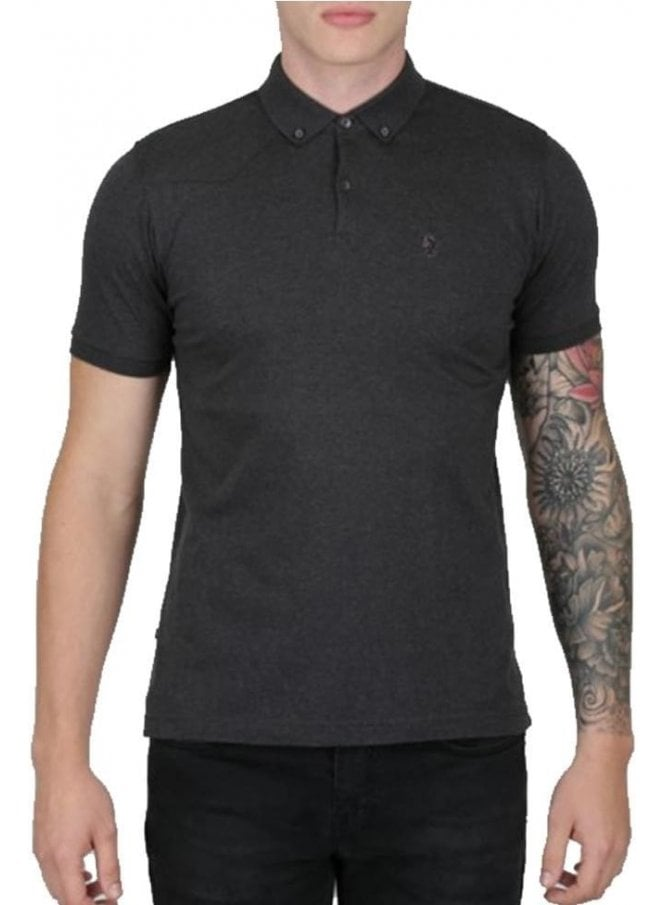 LUKE Stan Poole Otm Small Lion Polo Charcoal