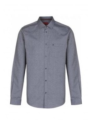 Two Eye Long Sleeve Pocket Detail Shirt Grey