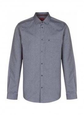 Two Eye Long Sleeve Pocket Detail Shirt Grey