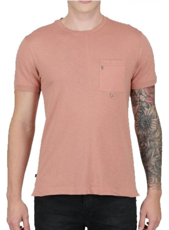 LUKE Wheel Crew Neck Tshirt Dusky