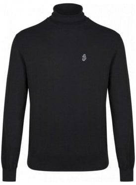 Wrightys Long Sleeved Polo Neck Jumper Black