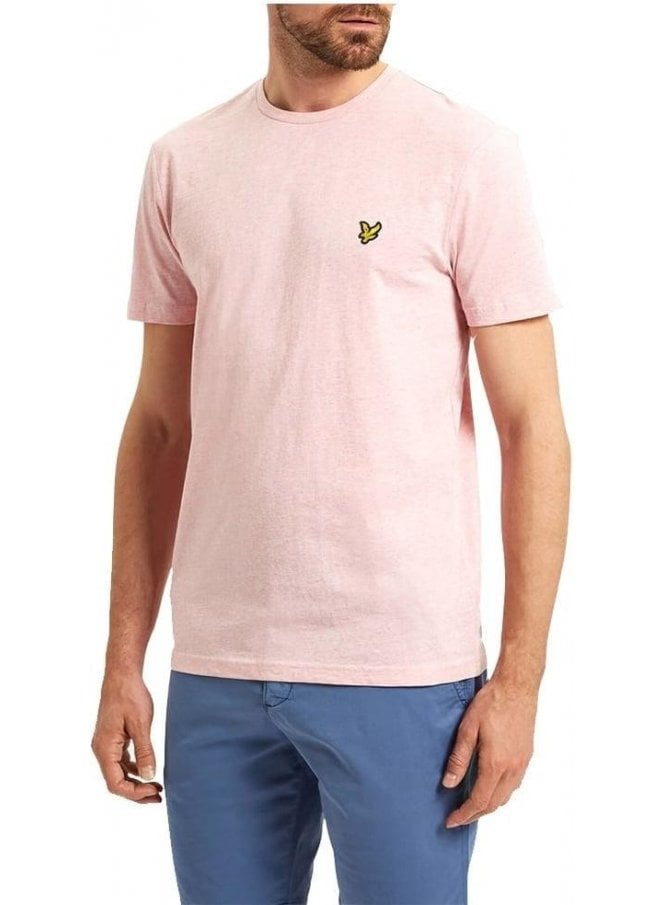 LYLE & SCOTT Basic Logo Tshirt Soft Pink Marl