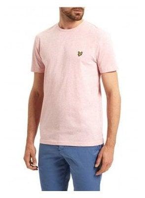 Basic Logo Tshirt Soft Pink Marl