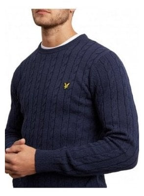 Cable Jumper - Dark Navy Marl