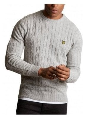 Cable Jumper - Light Grey Marl
