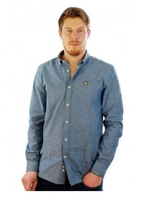 Chambray Long Sleeve Shirt Dark Chambray